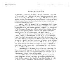 setting essay poe setting essay