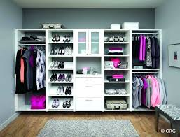 wall wardrobe system contemporary bedroom design with simple closet system design 3 side hanging space and