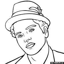 Small Picture Bruno Mars Coloring Page