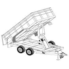 Get quotations · hydraulic dump trailer blueprints 12' x 6'4