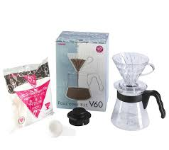 new hario v60 pour over kit dripper glass coffee cup pour over cone filter brew