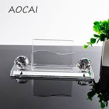 aaa k9 clear crystal pen pencils holder remote control case box business card stand desk organizer