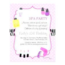 Spa Birthday Party Invitations Printables Free Spa Invitation Ideas