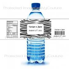 waterbottle labels 100 color custom water bottle labels zebra only waterproof