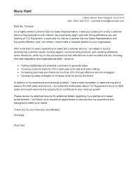 Customer Service Representative Cover Letter Sample Customer Service