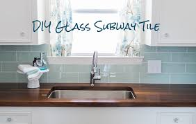 diy glass subway tile tips