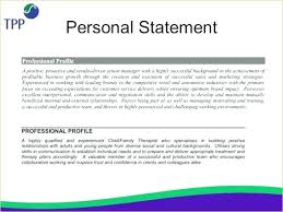 Resume Personal Statement Classy Resume Personal Statement Examples Letsdeliverco