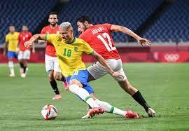 منتخب مصر الأولمبى يخسر أمام البرازيل ويودع أولمبياد طوكيو - البيان -  الشامل الرياضي