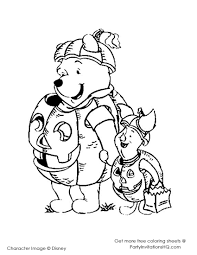 Free Pooh Friends Halloween Coloring Pages
