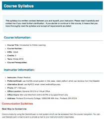 college syllabus template creating an effective and accessible webpage for d2l distance