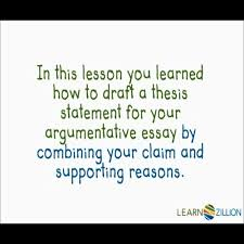 argumentative essay write a thesis statement