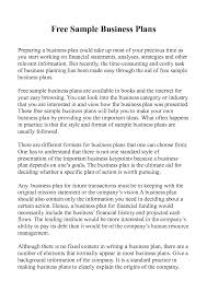 Business Plan Examples Resume Sections Restaurant Sample Pdf Small