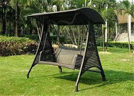 garden seat swing wooden garden swing seat with cushions