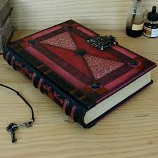 leather journal with lock and key