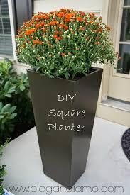 ANDIAMO: tall square planters   a diy tale