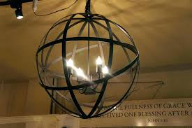 chandeliers black orb chandelier wrought iron sphere lambent from and gold