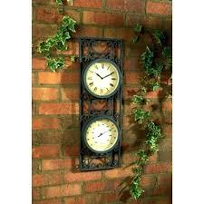 garden wall clock outside clocks and thermometers outside clocks and thermometers unique garden wall clocks popular