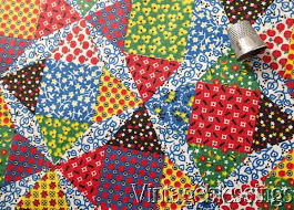 66 best Cheater Prints images on Pinterest | Patchwork, Vintage ... & 3 yards Vintage 30-40s Cheater Quilt Calico Cotton Fabric 35 3/4