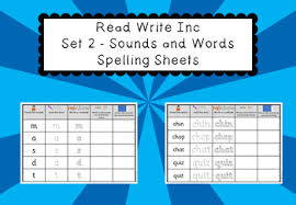 Sounds set1 and set2 grade/level: Read Write Inc Set 2 Sounds And Words Spelling Sheets By Funky Phonics
