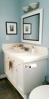 Coastal Inspired Bathroom in Summer Shower by Benjamin Moore