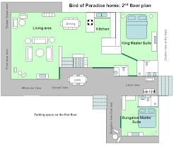 Floor plan of Bird of Paradise Poipu Kauai vacation rental homeFloor Plan of the Bird of Paradise Poipu Kauai Vacation Rental House in Poipu Resort
