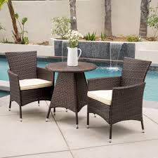 wicker bistro chairs.  Bistro Shop Melissa Outdoor 3piece Wicker Bistro Set With Cushions By Christopher  Knight Home  Free Shipping Today Overstockcom 10170612 To Chairs