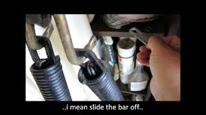 how to adjust garage door springsReplacing Garage Side Extension Spring on an Old One Piece Garage