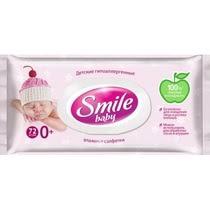 <b>Салфетки Smile baby</b> newborn <b>влажные</b> с пластиковым клапаном ...