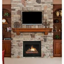 Over The Fireplace Tv Cabinet Decoration Classic Style Shelf Over Fireplace Made From Wood To