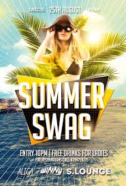 Summer Party Flyers Summer Swag Party Flyer Template Awesomeflyer Com