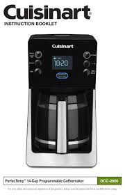 In this regard, how do i use the clean button on my cuisinart coffee maker? Cuisinart Perfectemp Dcc 2800 Instruction Booklet Pdf Download Manualslib