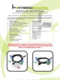 eg dc wire harness instructions 4 0 throttle