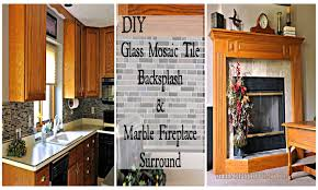 Diy Tile Kitchen Backsplash Serendipity Refined Blog Diy Updates Glass Mosaic Tile Kitchen