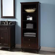 bathroom vanity black. 24 Bathroom Vanity 12 Inch Wide Linen Cabinet Washroom Cabinets Furniture Vanities Black With