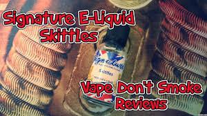 signature e liquid review skittles