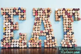 wine cork wall art letters