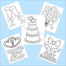 Small Picture 5 Printable Wedding Favor Kids coloring pages PDF or JPEG file