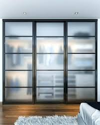 frosted glass closet doors this reach in showcases beautiful that sit on triple tracks the bifold