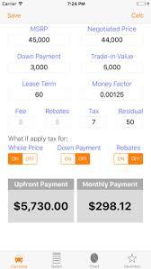 Auto Lease Calculator Car Loan Payment Leasing App Price Drops
