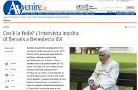 Image result for Pope Benedict Avvenire interview on extra ecclesiam nulla salus The Eponymous Flower