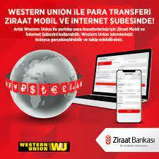 Ziraat Bankası - Western Union ile para transferi Ziraat Mobil ve İnternet  Şubesinde! Artık Western Union ile yurtdışı para transferleriniz için Ziraat  Mobil ve İnternet Şubesini kullanabilir, Western Union işlemlerinizi  kolayca gerçekleştirebilir