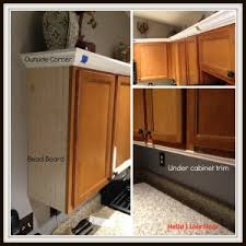 Kitchen Cabinet Makeover - Install Crown Molding - Crown Installed