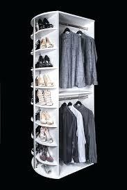 hanging closet shoe organizer double hang with closet shoe shelves by lazy lee closetmaid hanging shoe