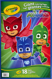 In the meantime, let's have some coloring fun! Crayola Giant Coloring Featuring Disney Pj Masks Child 18 Pages Walmart Com Walmart Com