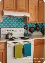 Vinyl Kitchen Backsplash Cross Hatch Vinyl Tile Backsplash Positively Splendid Crafts