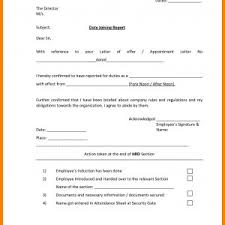 Job Joining Letter Sample Doc Valid Joining Letter Format For ...