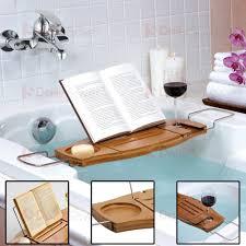 Bath Tray New Bathroom Bamboo Bath Caddy Wine Glass Holder Tray Over Bath