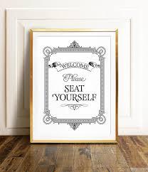 bestofbharat bathroom wall art please seat yourself sign bathroom art restaurant decor