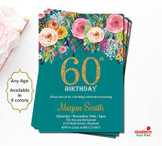 60 birthday invitations 60th birthday invitations surprise 60th birthday invitations