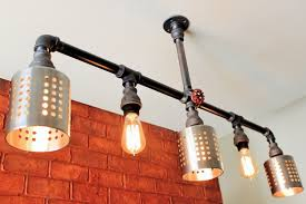 industrial pipe lighting. Amazon.com: Industrial Pipe Lighting Chandelier W/ Cages - Stainless Steel Fixture Pendant Steampunk Ceiling Light Fixture, Black Pipe: Handmade G